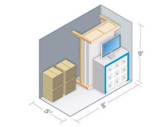 5x8 Haliburton Self Storage Units