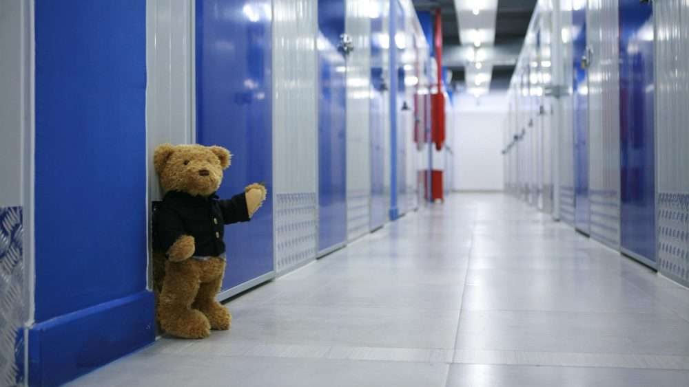 Self Storage Essonville - Bear beside storage lockers