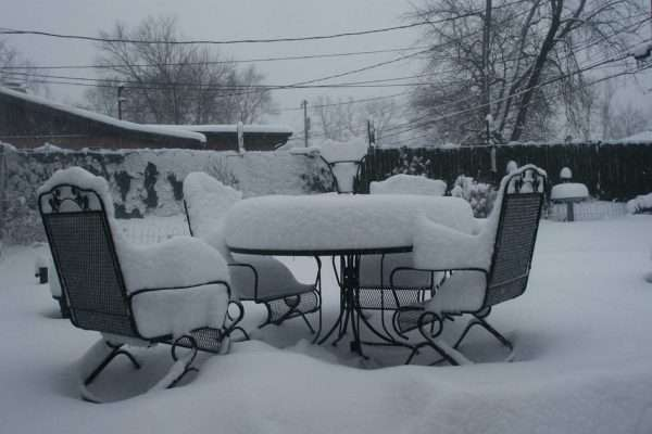 winter storage - patio furniture not stored